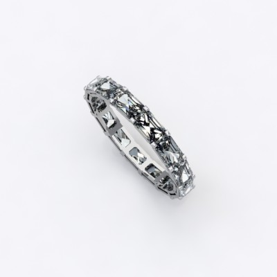 alliance-tour-complet-diamants-taille-+emeraude-0.10cts-or-blanc-0