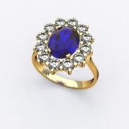 bague-entourage-marguerite-or-jaune-diamants-saphir-0