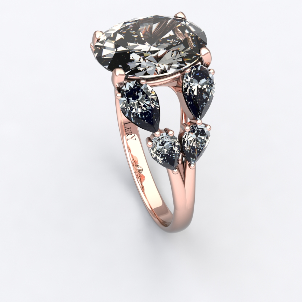 Bague Sienna Double Diamant Or Rose Lery