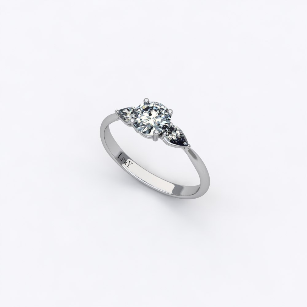 bague or et diamant rose