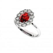 bague-entourage-marguerite-diamants-or-blanc-rubis-ovale