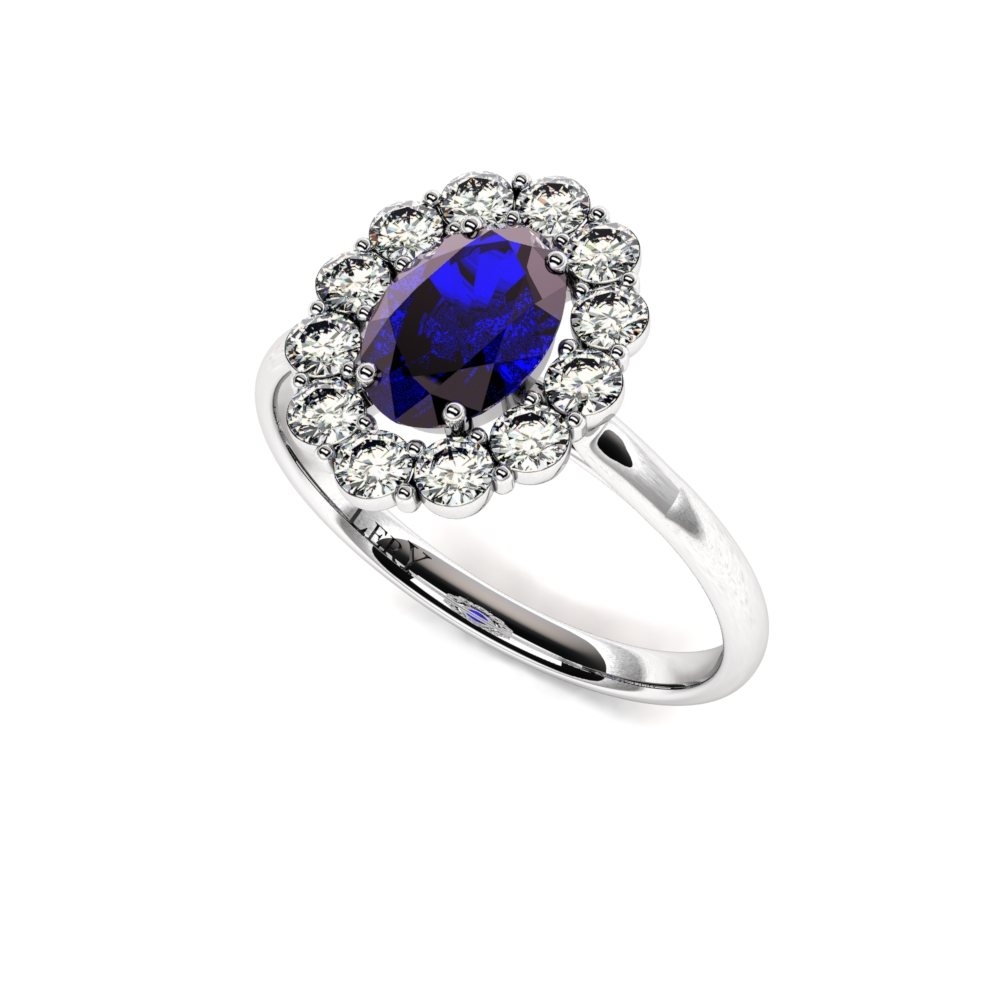 cf4af581777 bague-entourage-marguerite-diamants-or-blanc-saphir-ovale-