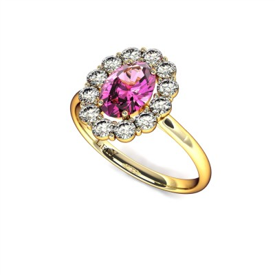 bague-entourage-marguerite-diamants-or-jaune-saphir-rose-ovale-0