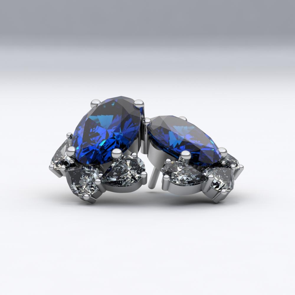 boucles-d-oreilles-or blanc-sienna-joaillerie-diamant-poire-saphir-oval-2